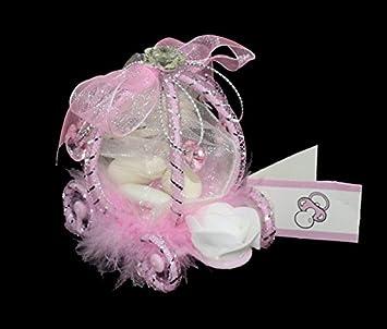 5 Carrosses à Dragées Ou Confiseries Sacs Organza Party Supplies Other Party Supplies Etiquettes Baptême Fille