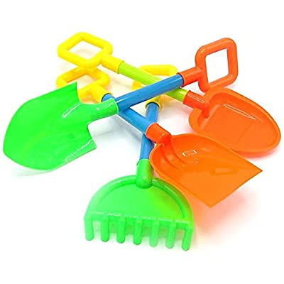 Kids Sandbox and Soil Gardening Tool Playset - Shovel & Rakes - 8 Piece Set: Toys & Games