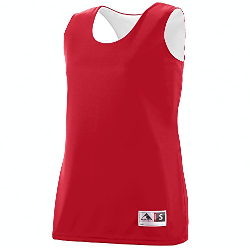 (Augusta Sportswear Augusta Ladies Reversible Wicking Tank, Red/White, Large)