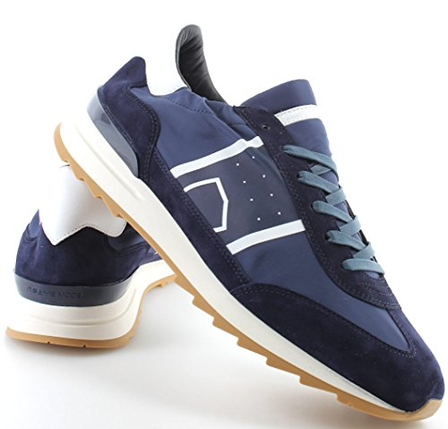 Philippe Model Scarpe Sneakers Uomo Paris Toujours Basic Bleu New Made in Italy