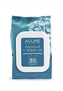 Coconut + Argan Oil Cleansing Towelettes, 30 Towelettes - Acure Organics by Acure Organics