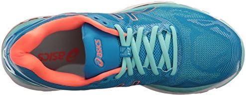 ASICS Damen Gel-Nimbus 19 Laufschuh, Blau - Diva Blue/Flash Coral/Aqua Splash - Größe: 37 EU