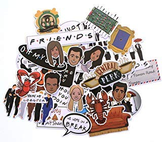 Pack Friends Sticker - Friends TV Series Set of 36 Assorted Stickers Decal Set