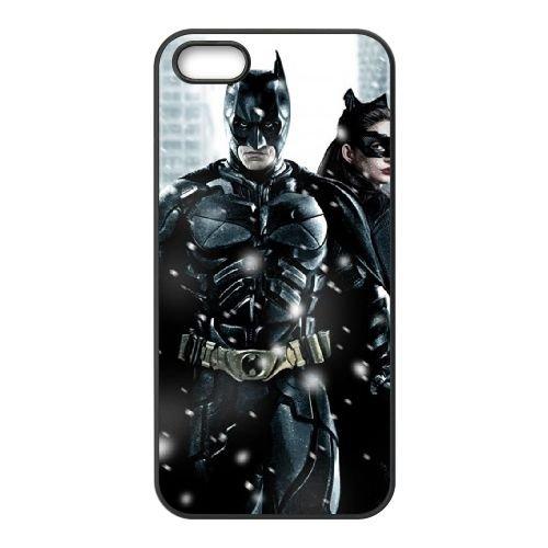 Batman Snow Catwoman Batman The Dark Knight coque iPhone 5 5S cellulaire cas coque de téléphone cas téléphone cellulaire noir couvercle EOKXLLNCD22035
