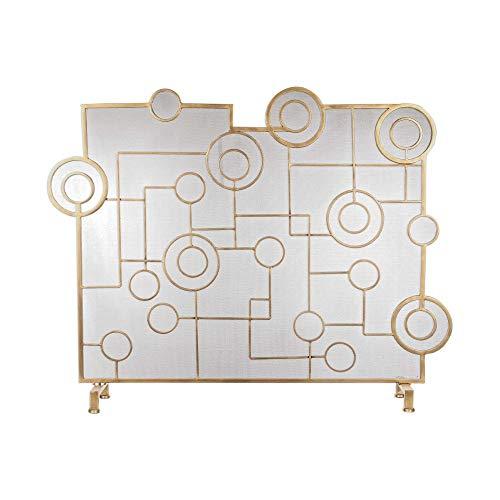 Uttermost Fireplace Screen in Antique Brass Brass Contemporary Fireplace Screen