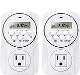 Smart Digital Programmable Outlet Timer, 7 Day