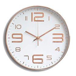 Fashion Nice Modern Silent Wall Clock DIY Home Decor,Gold