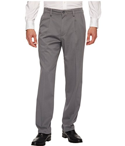 Dockers Men's Big and Tall Signature Khaki Pleated Pant, Burma Grey (Stretch), 50W x 32L ()
