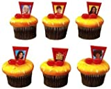 High School Musical Music Note Cupcake Rings 12 Pack