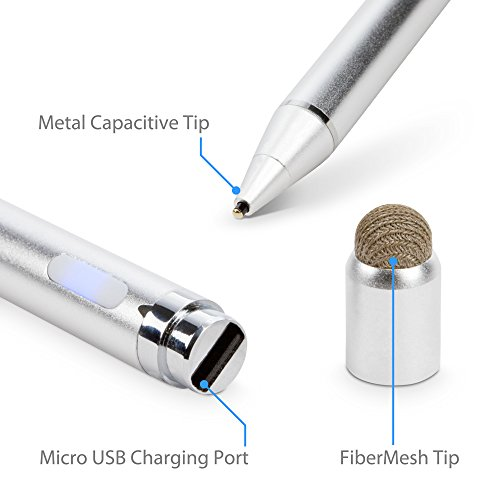 BoxWave iPad mini 4 Stylus Pen, [AccuPoint Active Stylus] Electronic Stylus with Ultra Fine Tip for Apple iPad mini 4 - Metallic Silver by BoxWave (Image #6)