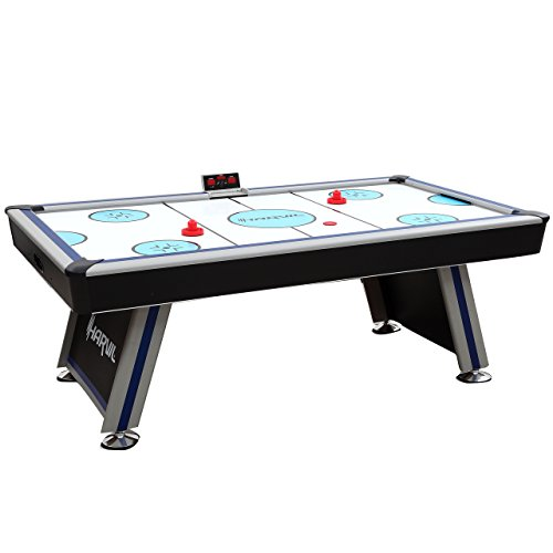 Harvil 7 Foot Air Hockey Table Full Size for Kids and Adults with Powerful Dual Electric Blowers, Paddles and Pucks (Hockey Nhl Table Air)