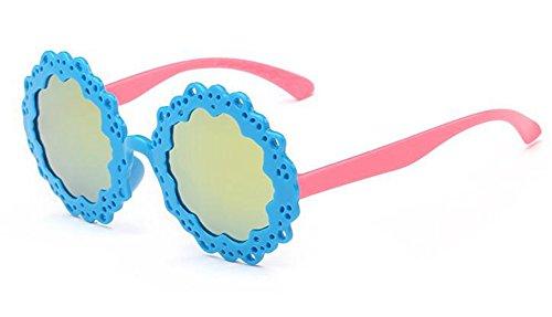 métallique Cadre en style polarisées cercle lunettes de Bleu vintage inspirées rond retro soleil du Lennon BAFwqxPO