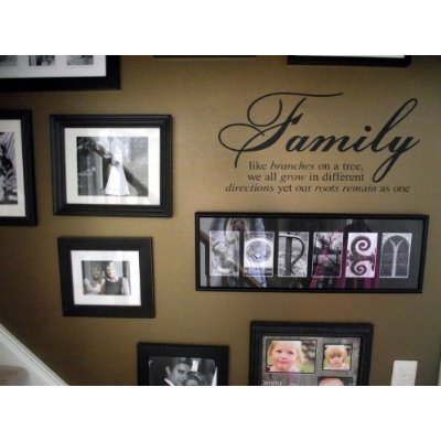 Wheeler3Designs Family Like Branches On A Tree vinyl lettering wall sayings home art decor