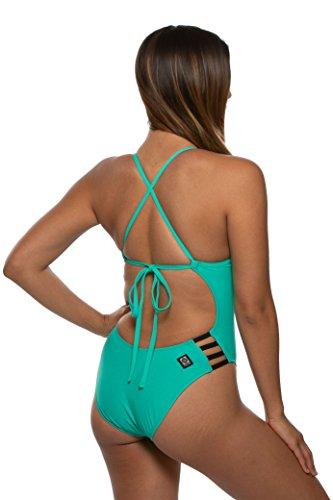 376450eb45a JOLYN Women's Tie-Back Gavin One-Piece Swimsuit (28, Seafoam/Black ...