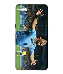 ColorKing Football Suarez Uruguay 07 Multicolor shell case cover for Samsung C7 Pro