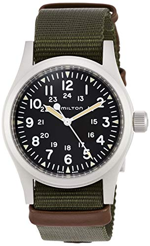 Silver Arabic Markers - Men's Hamilton Khaki Field Mechanical Watch H69439931