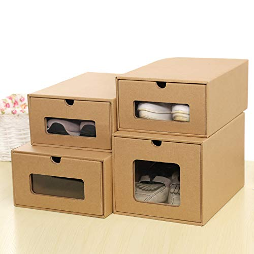 scatola trasparente scarpe 2 carta stivali Storage scarpe Cassetto nbsp;MM di Finishing kraft scarpe lunghi LiuGongSi box ispessimento 2 nbsp;x verde e Storage donne di uomini nbsp;x box scatola 2 qU7Ww14t8