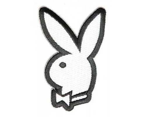 Bunny With Bow Playboy Sexy Embroidered Motorcycle NEW Biker Vest Patch PAT-3080 (New Playboy Bunny)