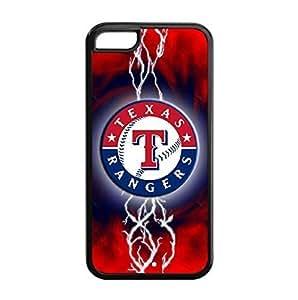 iPhone 5C pc hard Case with Baseball Texas Rangers Team Design-by Allthingsbasketball