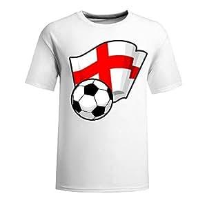 Custom Mens Cotton Short Sleeve Round Neck T-shirt,2014 Brazil FIFA World Cup Soccer Flags white