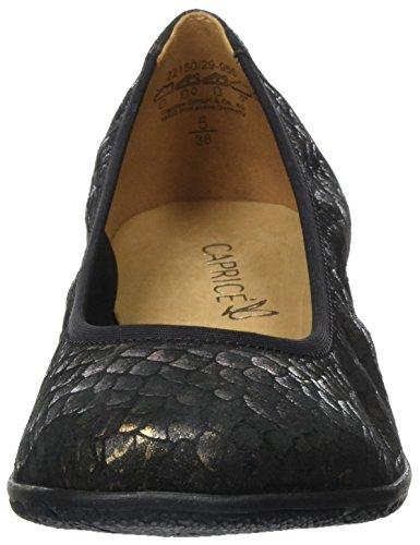 Ballerines Caprice 22150 Noir bronce Femme Multi 885vrH6