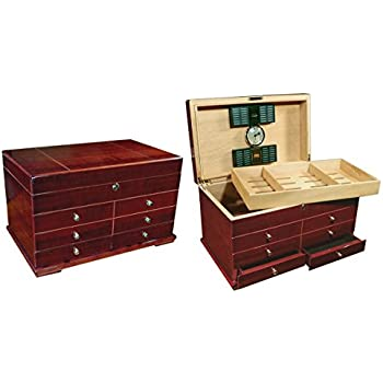 Prestige Import Group Landmark Large Humidor with Drawers - Color: Cherry Finish
