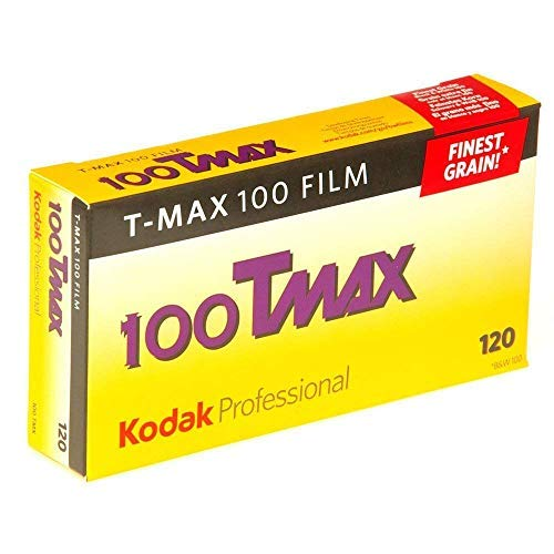 Kodak 857 2273 Professional 100 Tmax Black and White Negative Film 120 (ISO 100) 5 Roll Pack 2-Pack