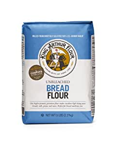 King Arthur Unbleached Bread Flour, 5-pounds (Pack of 4)