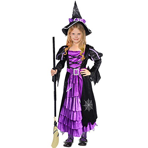 Acekid Halloween Witch Costume Fancy Party Dress Up Outfit for Girls ()
