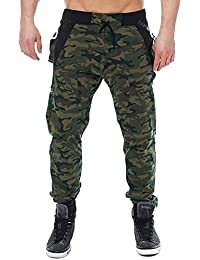 Men's Jogger Pants Camo Cargo Trousers Camouflage Sports Twill Chino Sweatpants