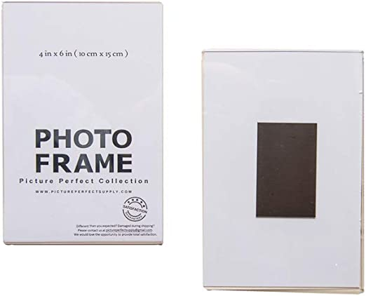 Clear Acrylic Photo Frame Magnetic Photo HolderFree Standing Picture Frame