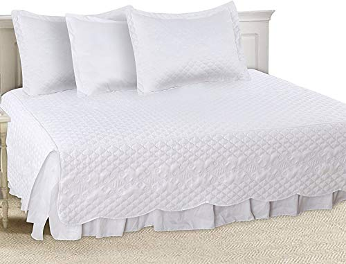 - Utopia Bedding 5 Pieces Daybed Set, 1 Bed Skirt, 3 Pillowcases and 1 Quilted Bedspread
