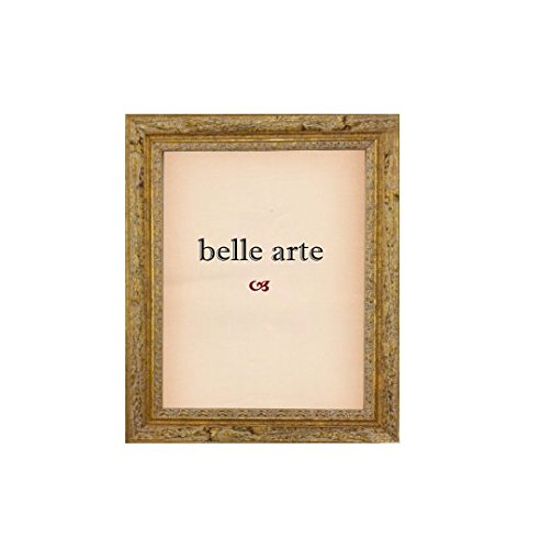 Distressed Textured Natural Wood Antiqued Gold Picture Frame (4x6 Inch) (Pictures Natural Gold)