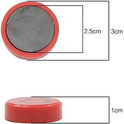 rotonde lavagne per calendari Confezione da 20 calamite da frigo pianificazione 30 mm Nero