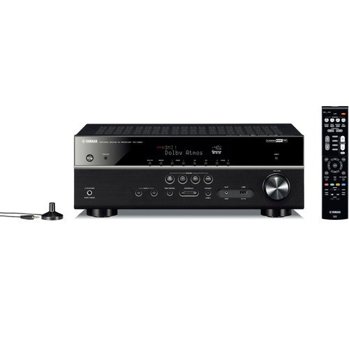 Yamaha RX-V583BL 7.2-Channel 4K Ultra HD MusicCast AV Receiver, Works with Alexa