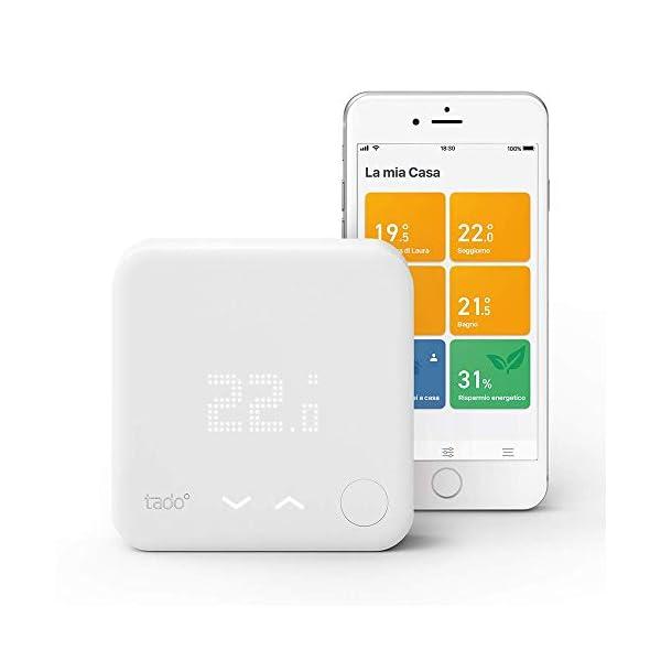 tado° Termostato Intelligente Cablato Kit di Base V3+, Gestione Intelligente del Riscaldamento, Facile Installazione Fai… 1 spesavip