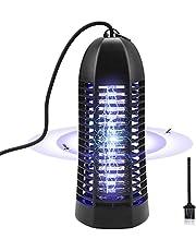 ROVLAK Insectenverdelger, elektrische lamp voor binnen, met 6 W TL-buis, insectenverdelger, 1000 V, muggenlamp, elektrisch met stopcontact voor het doden van muggen in insecten, zwart