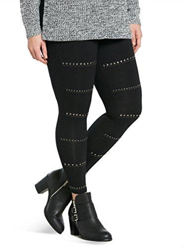 Studded Striped Full Length Leggings