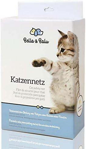 Bella & Balu Red para Gatos (transp | 10 x 4) Incl. Gancho, Tacos, Cuerda e Instrucciones – Red de protección para Gato Transparente para Balcones, terrazas, Ventanas y Puertas: Amazon.es: Productos para mascotas