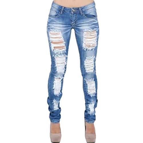 Baja Mezclilla Casual Jeans Rotos Ropa 2XL Cómodo Vaqueros con 2 Push Mujer Pantalones Cintura Skinny Juqilu Estilo S Up Bolsillos Ocio F6qOpZEnz