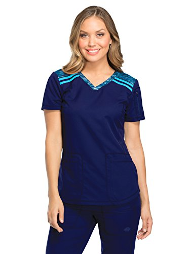 - Women's Dynamix Mélange V-Neck Scrub Top