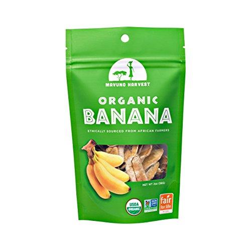 Banana Dried Organic (Mavuno Harvest Fair Trade Organic Dried Fruit, Banana, 2 Ounce (Pack of 6))