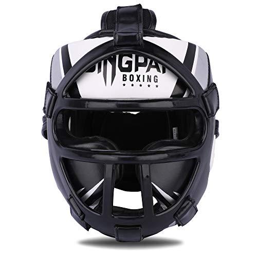 GINGPAI Boxing Headgear,MMA Training Headgear,Synthetic Leather Kickboxing Headgear,Muay Thai UFC Sparring Helmet Head…