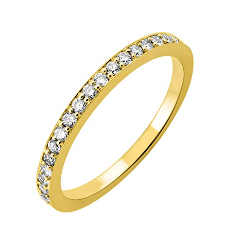 IGI Certified 14k Yellow Gold Wedding Diamond Band Ring (1/4 Carat) (Size 10)