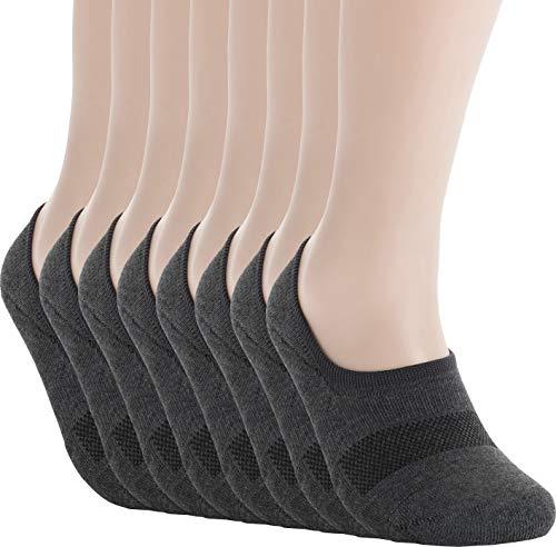 - Pro Mountain Unisex No Show Flat Cushion Athletic Cotton Sneakers Sports Socks (M(US Women Shoe 7.5~9.5 = Men 6.5~8.5, size10 Unisex), Dark Grey 8pairs Pack M-size)