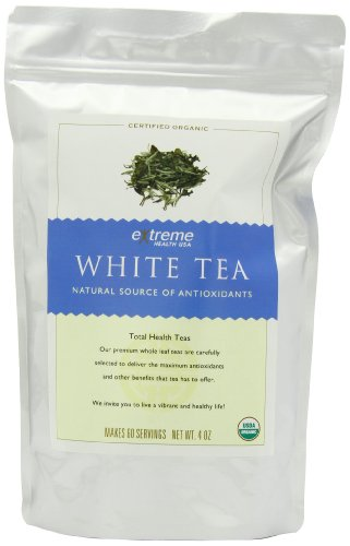 Extreme Health USA Extreme Health's Organic White Tea, Total Health Loose Leaf Tea, 4-Ounce Pouches (Pack of 2)