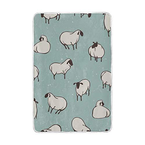Jonassk Woolffk Sheep Game Yard Soft Blanket All Season Comfort Super Soft Warm Plush Blanket Fuzzy Light Warm Wool Blanket Sofa Bed, 60x90 Inches