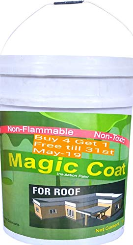 Magic Coat Heat Reflective Cool Paint for Roof (4 Liter)