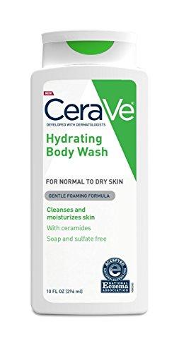 CeraVe Hydrating Body Wash, 10 Fluid Ounce Per Bottle