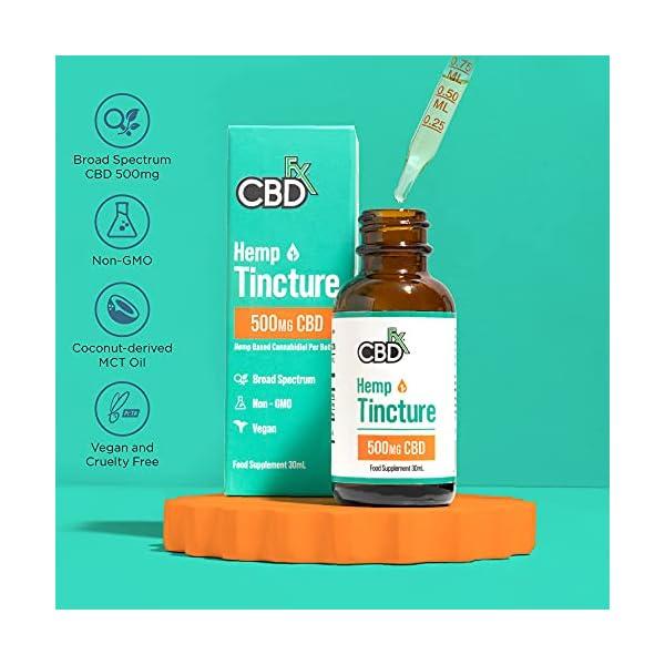 CBDfx CBD Oil Tincture – 500mg CBD per 30ml Bottle